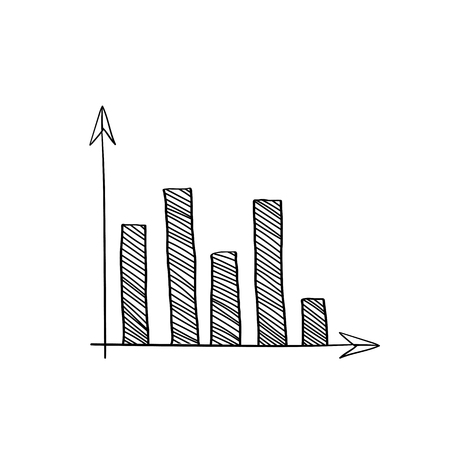 Stock market bar graph vector