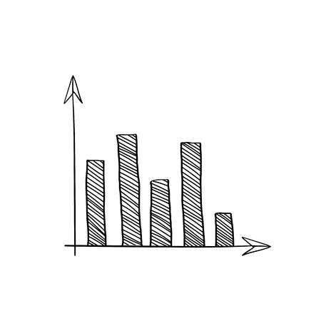 Stock market bar graph vector