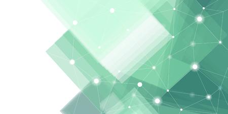 Vecteur de fond de technologie futuriste vert et blanc Vecteurs
