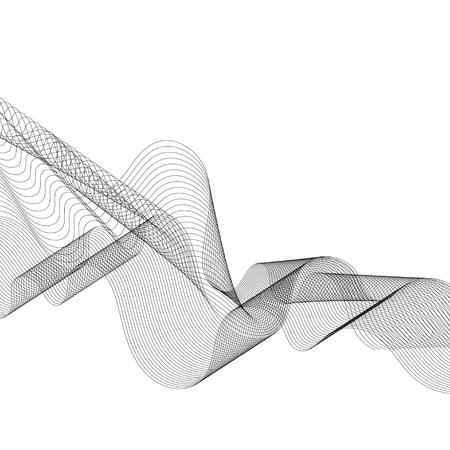 Black moiré wave on white background Stock Vector - 124971262