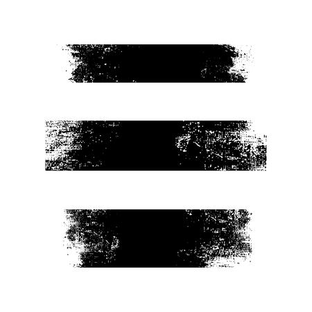 Grunge black distressed textured badges vector set Ilustração