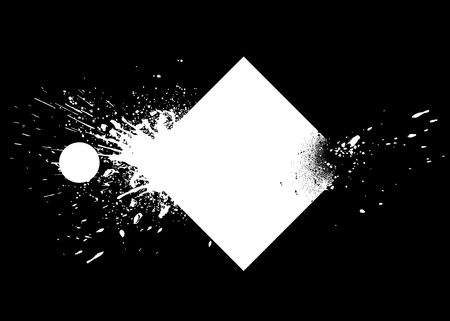 White and black ink splashes vector