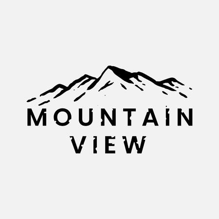 Mountain view logo design vector
