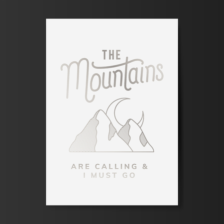 The mountains are calling logo vector