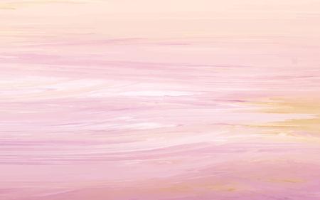 Peach abstract acrylic brush stroke textured background vector