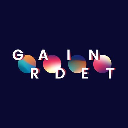 Colorful gradient trend element vector Illustration
