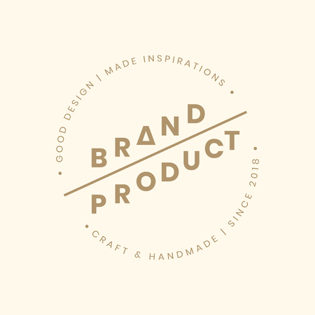 Brand and product badge design vector