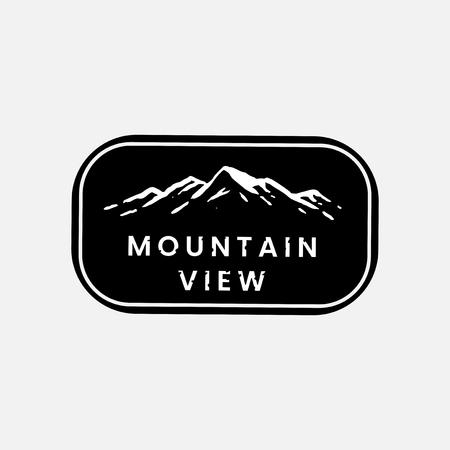 Mountain view logo on a banner vector