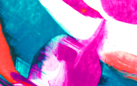Colorful abstract acrylic brush stroke textured background vector