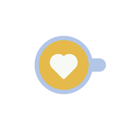 Heart shape in drink vector