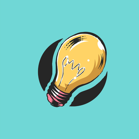 Light bulb graphic illustration icon vector