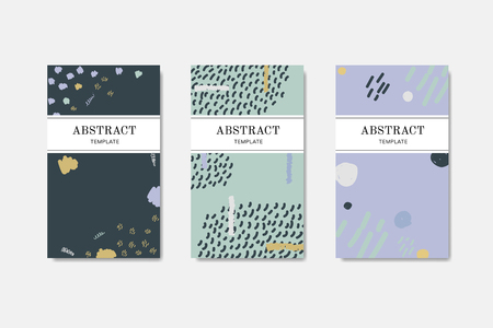 Abstract element patterned vector templates set Vettoriali