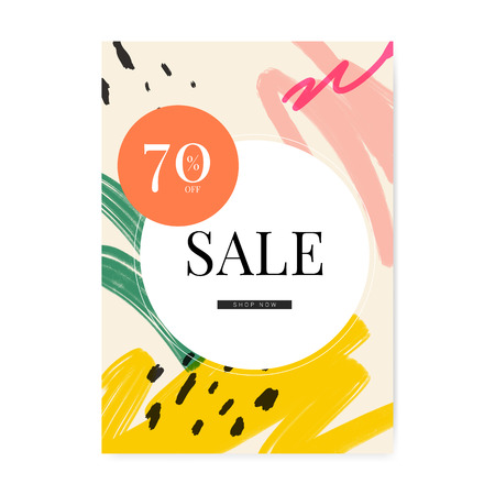 Memphis design with summer sale vector Ilustrace