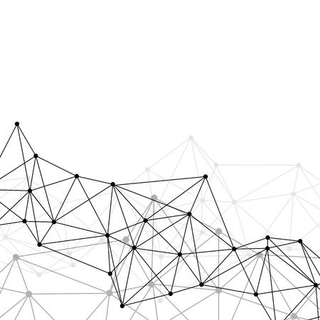 Abstrakter Vektor der weißen neuronalen Textur