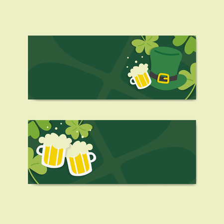 St.Patrick's Day blank banners set vector