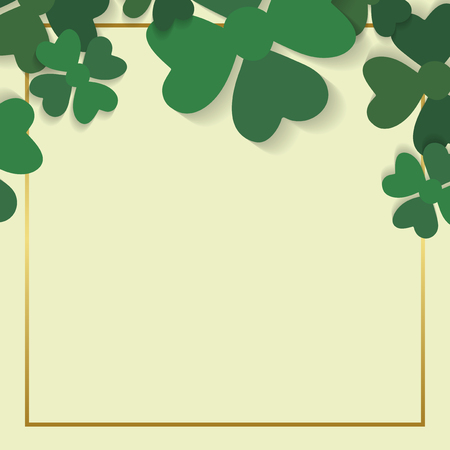 St.Patrick's Day blank square banner vector