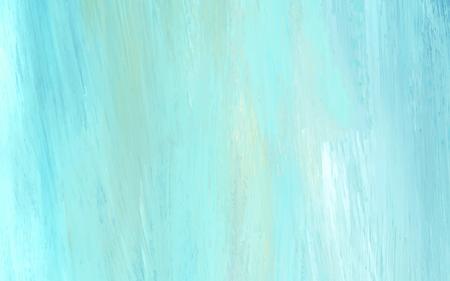 Vector de fondo con textura de trazo de pincel acrílico abstracto verde azulado Ilustración de vector
