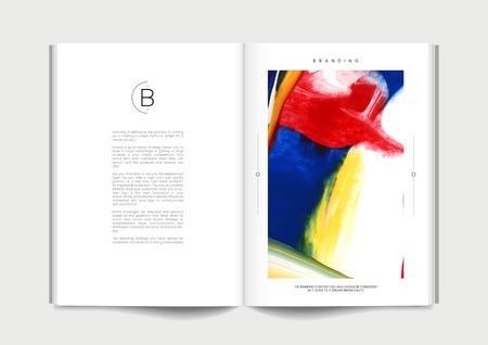 Book with abstract branding design vector Vetores