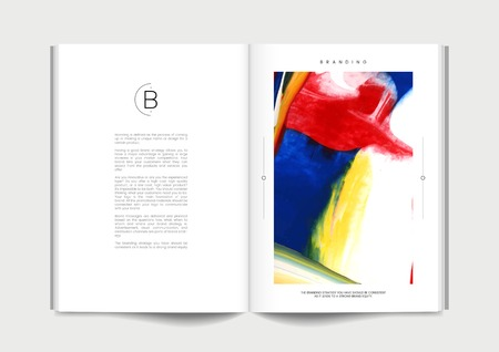 Book with abstract branding design vector