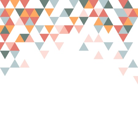 Colorful triangle patterned on white background Çizim