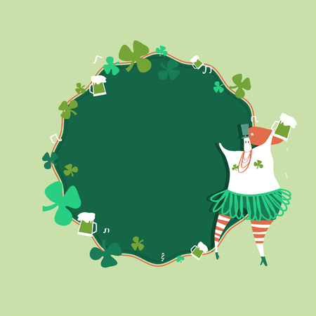 St. Patrick's Day celebration badge vector