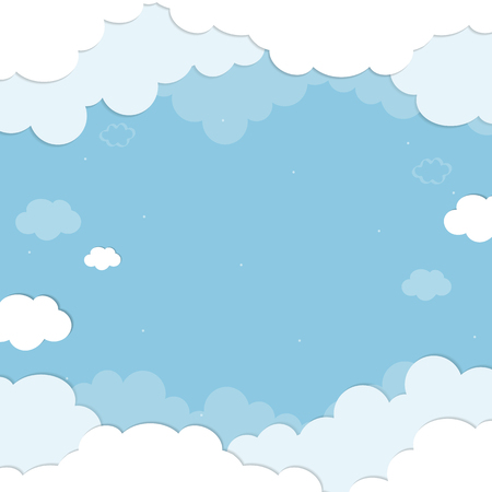 Blue sky with clouds patterned background vector