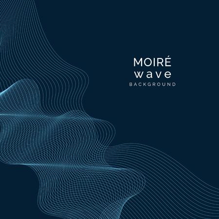 Sky blue moiré wave on space blue background Archivio Fotografico - 117598512
