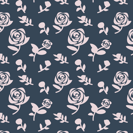 Pink floral patterned background vector Ilustrace