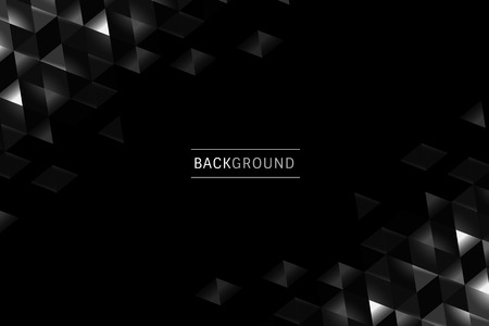 Black prism background design vector