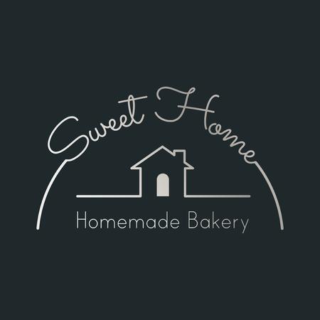 Homemade bread logo badge vector