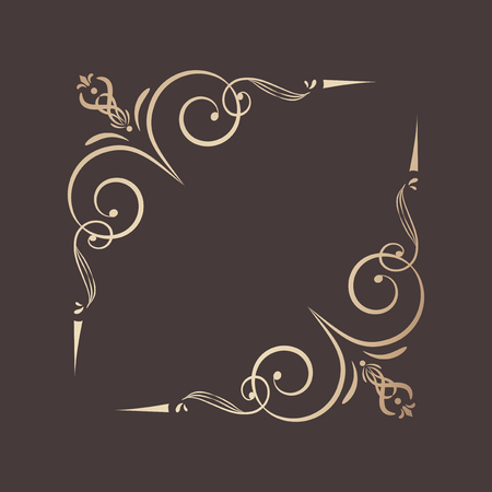 Decorative calligraphic ornament vector illustration