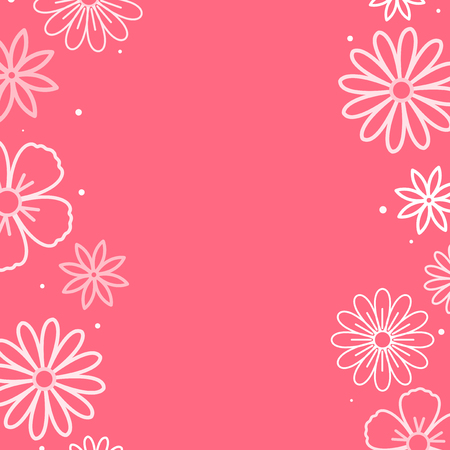 White flower pattern with a pink background vector Ilustrace