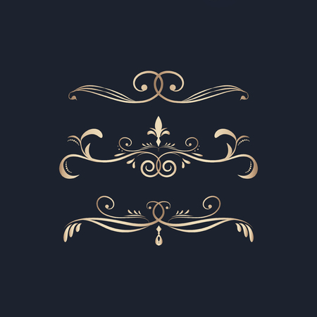 Decorative calligraphic ornaments vector set Reklamní fotografie - 124774109
