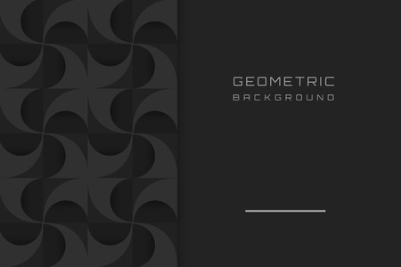 Black geometric background design vector