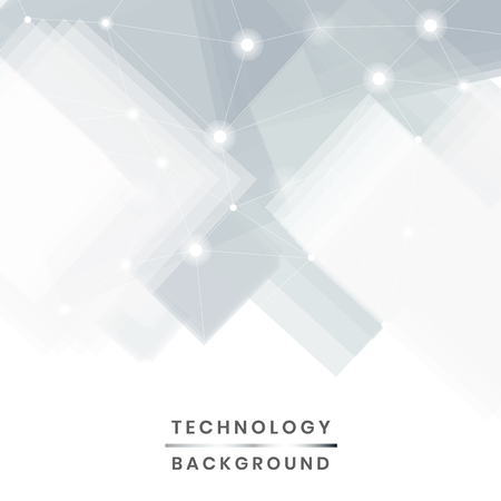 Gray and white futuristic technology background vector Stock Illustratie
