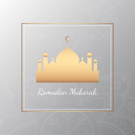 Ramadan Mubarak card design vector