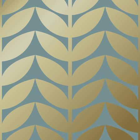 Gold botanical pattern background vector 일러스트