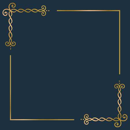 Golden vintage ornament frame vector