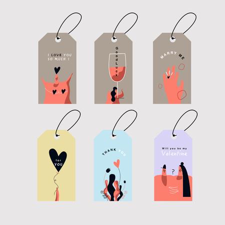 Valentine's Day cards set vector