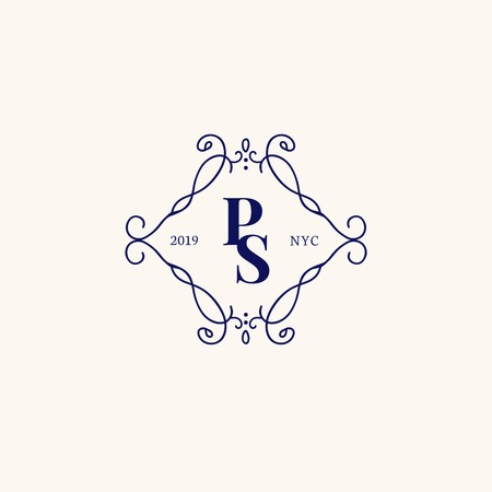 Vintage style baroque badge vector