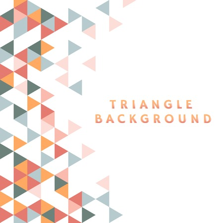 Colorful triangle patterned on white background Ilustrace