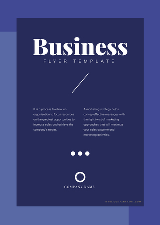 Business flyer template mockup vector