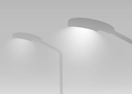 Vecteur rougeoyant de lumière de route grise