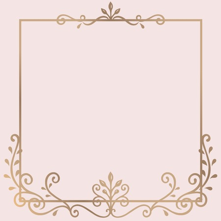 Złoty ornament vintage rama wektor Ilustracje wektorowe