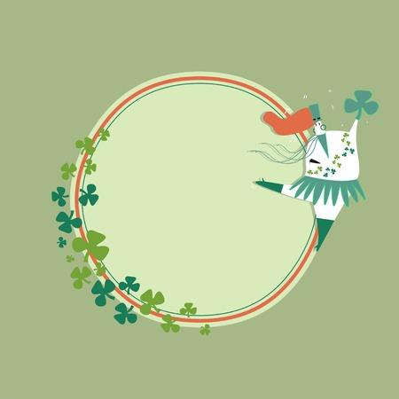 St. Patrick's Day celebration badge vector Standard-Bild - 124774178