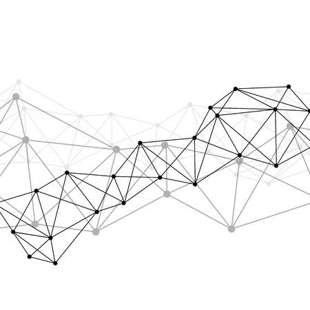 White neural texture abstract vector Zdjęcie Seryjne - 124774191