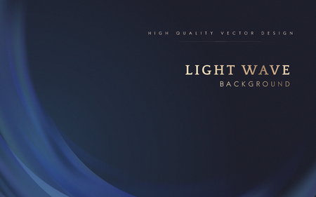 Blue light wave border background