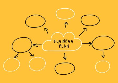 Doodle creative business plan chart illustration Ilustração