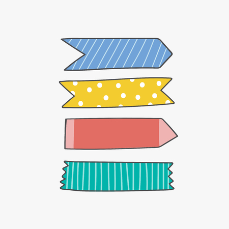Colorful sticky reminder note papers set Ilustrace