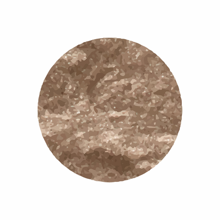 Round shimmery copper badge vector